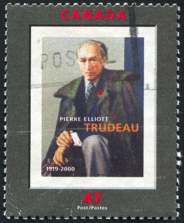 CANADA - CIRCA 2001: stamp printed by Canada, shows Pierre Elliott, circa 2001 Stock Photo - 9385333
