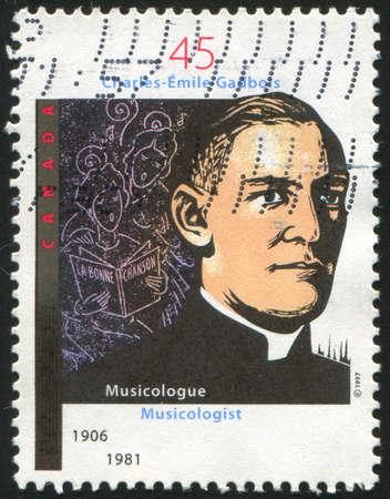 CANADA - CIRCA 1997: stamp printed by Canada, shows Father Charles Emile Gadbois, circa 1997 Stock Photo - 9381267