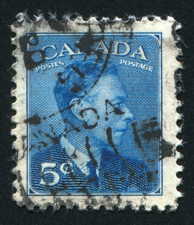 CANADA - CIRCA 1949: stamp printed by Canada, shows King George VI, circa 1949 Stock Photo - 9381259