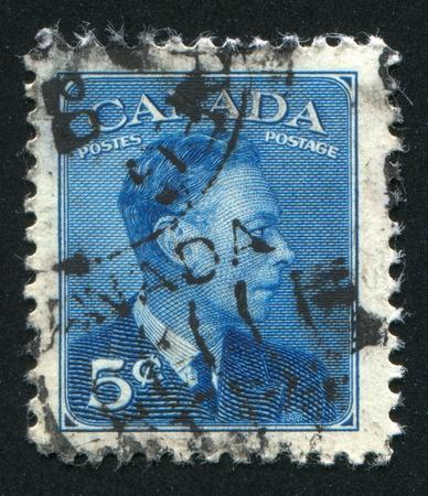 CANADA - CIRCA 1949: stamp printed by Canada, shows King George VI, circa 1949 Stock Photo - 9381259