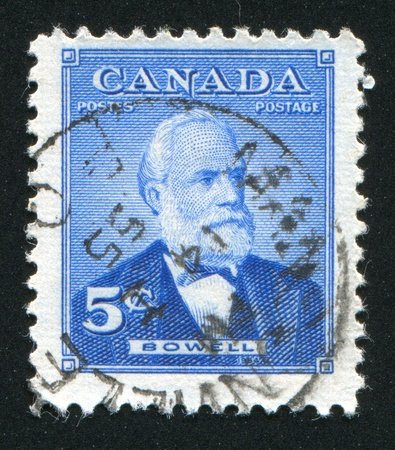 CANADA - CIRCA 1954: stamp printed by Canada, shows Sir Mackenzie Bowell, circa 1954 Stock Photo - 9384736