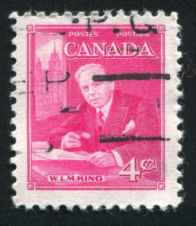 CANADA - CIRCA 1951: stamp printed by Canada, shows William L. Mackenzie, circa 1951 Stock Photo - 9381244