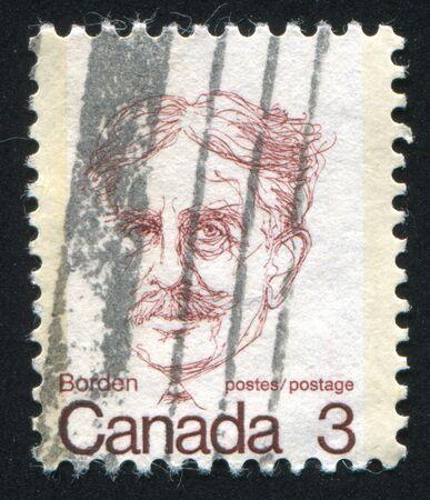borden: CANADA - CIRCA 1972: stamp printed by Canada, shows Sir Robert L. Borden, circa 1972