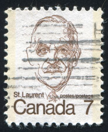 laurent: CANADA - CIRCA 1972: stamp printed by Canada, shows Louis St. Laurent, circa 1972 Editorial