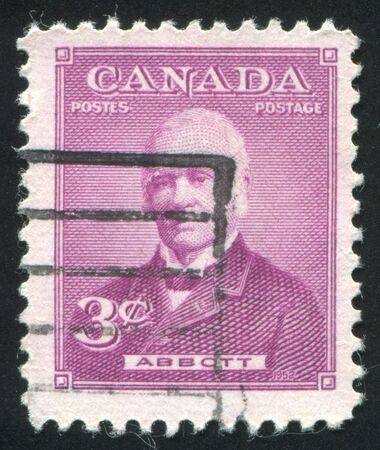 CANADA - CIRCA 1952: stamp printed by Canada, shows Sir John J. C. Abbott, circa 1952 Stock Photo - 9381224