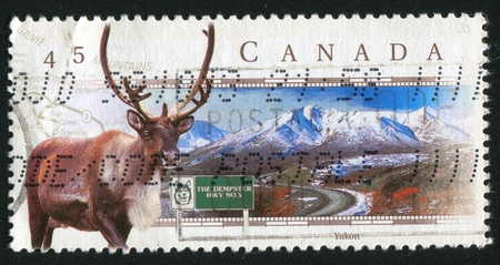 CANADA - CIRCA 1998: stamp printed by Canada, shows Dempster Highway, Yukon, circa 1998 photo