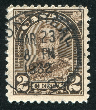 CANADA - CIRCA 1929: stamp printed by Canada, shows King George V, circa 1929 Stock Photo - 9463786