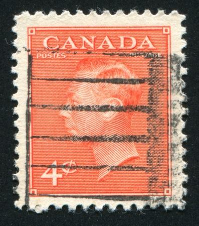 CANADA - CIRCA 1949: stamp printed by Canada, shows King George VI, circa 1949 Stock Photo - 9463795