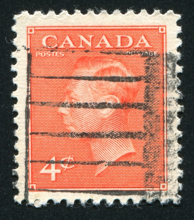 CANADA - CIRCA 1949: stamp printed by Canada, shows King George VI, circa 1949 Stock Photo - 9463795