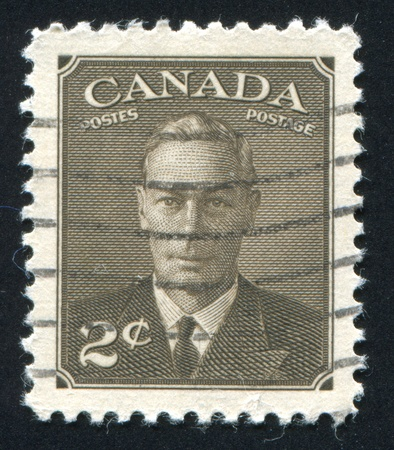 CANADA - CIRCA 1949: stamp printed by Canada, shows King George VI, circa 1949 Stock Photo - 9463774