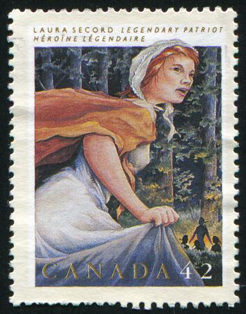 canada stamp: CANADA - CIRCA 1992: stamp printed by Canada, shows Laura Secord, circa 1992 Editorial