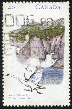CANADA - CIRCA 1991: stamp printed by Canada, shows South Nahanni river, circa 1991 photo