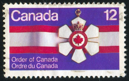 CANADA - CIRCA 1977: stamp printed by Canada, shows Order of Canada, circa 1977 Stock Photo - 9463768