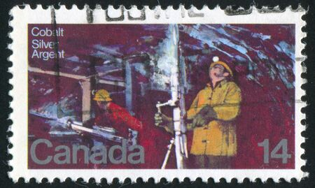 CANADA - CIRCA 1978: stamp printed by Canada, shows Silver Mine Cobalt Lake, circa 1978 photo