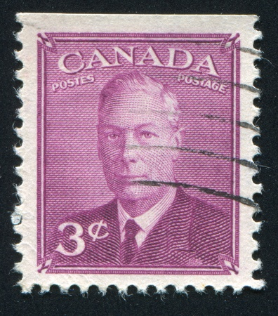 CANADA - CIRCA 1949: stamp printed by Canada, shows King George VI, circa 1949 Stock Photo - 9585030
