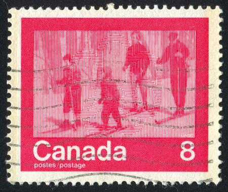 CANADA - CIRCA 1974: stamp printed by Canada, shows skier, circa 1974 photo