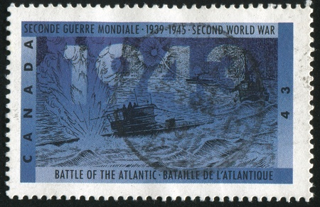 CANADA - CIRCA 1993: stamp printed by Canada, shows Battle of the atlantic, circa 1993 Stock Photo - 9585515