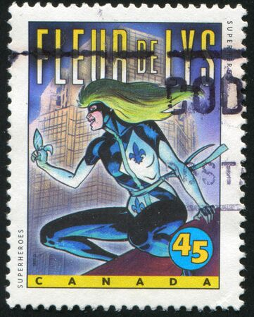 CANADA - CIRCA 1995: stamp printed by Canada, shows Comic Book Characters, Fleur de Lys, circa 1995