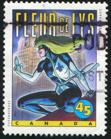 CANADA - CIRCA 1995: stamp printed by Canada, shows Comic Book Characters, Fleur de Lys, circa 1995