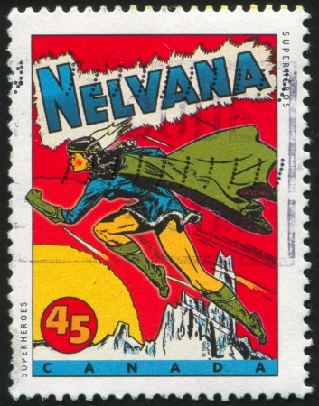 CANADA - CIRCA 1995: stamp printed by Canada, shows Comic Book Characters, Nelvana, circa 1995