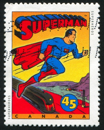 CANADA - CIRCA 1995: stamp printed by Canada, shows Comic Book Characters, Superman, circa 1995 Editorial