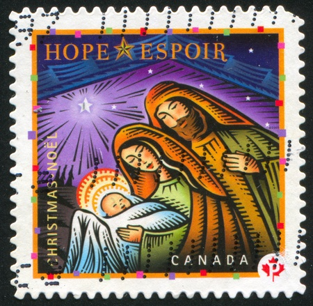 canada stamp: CANADA - CIRCA 2007: stamp printed by Canada, shows Holy Family, circa 2007