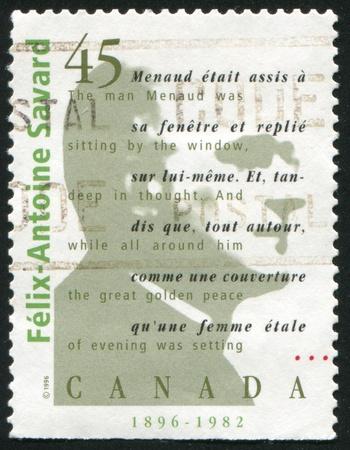 felix: CANADA - CIRCA 1996: stamp printed by Canada, shows Felix Antoine Savard, circa 1996