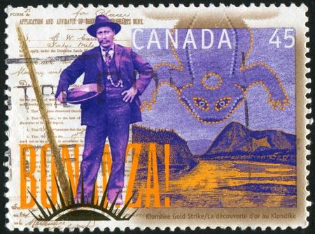 gold rush: CANADA - CIRCA 1996: stamp printed by Canada, shows Yukon Gold Rush, circa 1996 Editorial