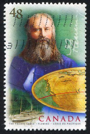 CANADA - CIRCA 2002: stamp printed by Canada, shows Sir Sandford Fleming, circa 2002