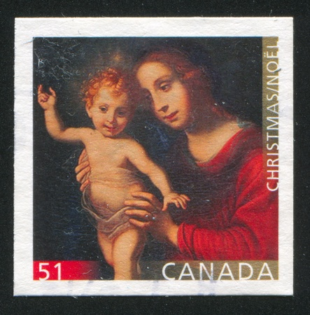 CANADA - CIRCA 2006: stamp printed by Canada, shows madonna, circa 2006 Stock Photo - 9585024