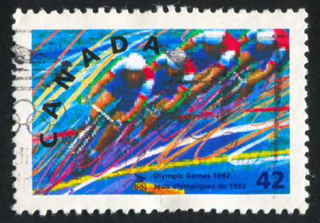 CANADA - CIRCA 1992: stamp printed by Canada, shows bicycle, circa 1992