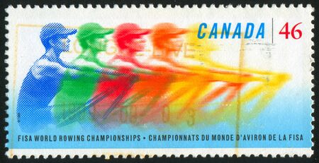 CANADA - CIRCA 1999: stamp printed by Canada, shows 23rd World Rowing Championships, circa 1999