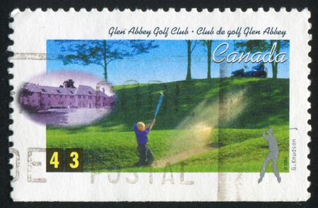 canada stamp: CANADA - CIRCA 1995: stamp printed by Canada, shows Golf Club, circa 1995 Stock Photo