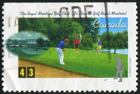 CANADA - CIRCA 1995: stamp printed by Canada, shows Golf Club, circa 1995 photo