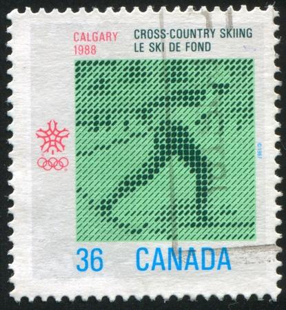 CANADA - CIRCA 1987: stamp printed by Canada, shows 1988 Calgary Winter Olympics, circa 1987