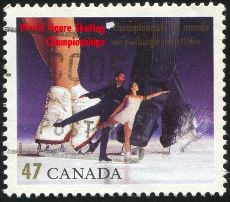 CANADA - CIRCA 2001: stamp printed by Canada, shows World Figure Skating Championships, Vancouver, circa 2001