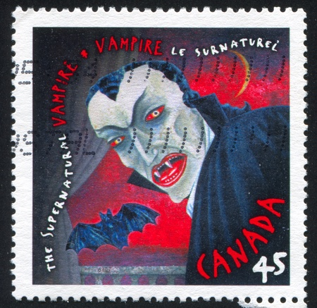 CANADA - CIRCA 1997: stamp printed by Canada, shows Vampire, circa 1997 photo