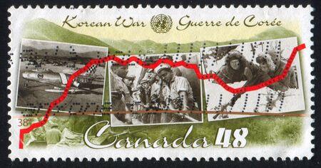 armistice: CANADA - CIRCA 2003: stamp printed by Canada, shows Korean War Armistice Agreement, circa 2003 Editorial