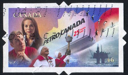 CANADA - CIRCA 2000: stamp printed by Canada, shows woman, man, circa 2000