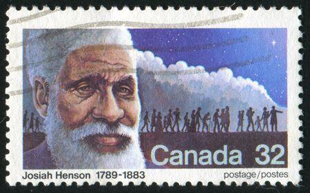 CANADA - CIRCA 1983: stamp printed by Canada, shows Josiah Henson (1789-1883), preacher, circa1983 Stock Photo - 9742607