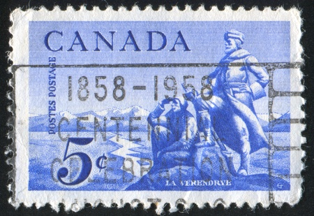 CANADA - CIRCA 1958: stamp printed by Canada, shows La Verendrye, circa 1958 Stock Photo - 9742642
