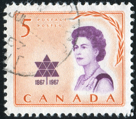CANADA - CIRCA 1967: stamp printed by Canada, shows Elizabeth II, circa 1967