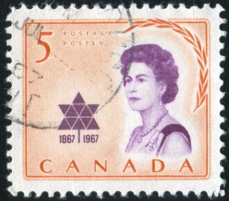 CANADA - CIRCA 1967: stamp printed by Canada, shows Elizabeth II, circa 1967 Stock Photo - 9742554