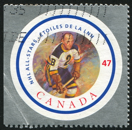 CANADA - CIRCA 2001: stamp printed by Canada, shows hockey player, circa 2001