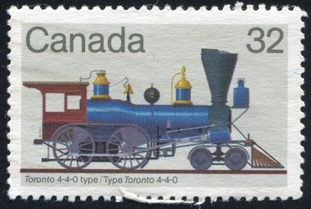 CANADA - CIRCA 1999: stamp printed by Canada, shows locomotive, circa 1999 photo