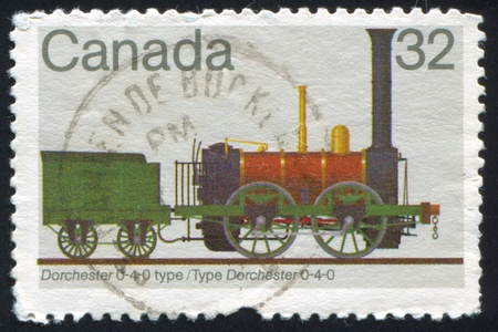 CANADA - CIRCA 1983: stamp printed by Canada, shows locomotive, circa 1983 Stock Photo - 9834391