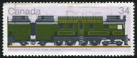 CANADA - CIRCA 1986: stamp printed by Canada, shows locomotive, circa 1986 Stock Photo - 9834461