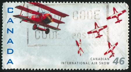 CANADA - CIRCA 1999: stamp printed by Canada, shows aeroplane, circa 1999 photo