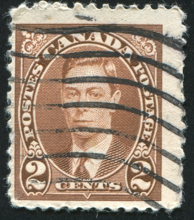 CANADA - CIRCA 1937: stamp printed by Canada, shows George VI, Tree Cents, circa 1937 Stock Photo - 9834319