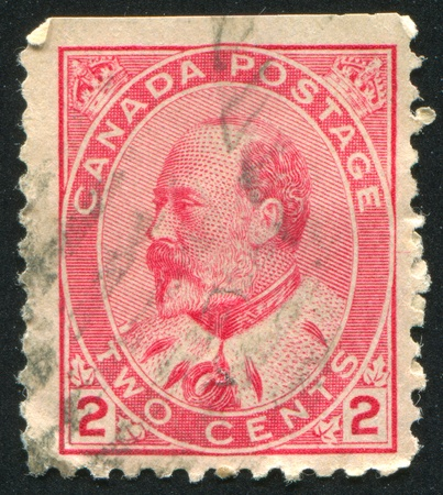 CANADA - CIRCA 1905: stamp printed by Canada, shows King Edward VII, circa 1905 Stock Photo - 9834334